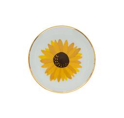 Prato De Porcelana Girassol