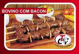 Espetinho Bovino com Bacon