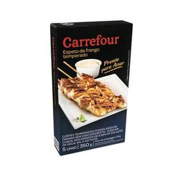 Espeto De Frango Temperado Carrefour - 5 Unidades 350 g