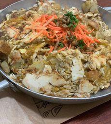 Frango thai com batata doce