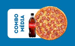 Promo Coca-Cola -  Pizza Média + Refrigerante 600ml