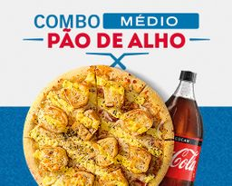 Lançamento - Combo Pizza Pão de Alho MÉDIA + Refri 600ml.