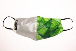 Máscara Verde/Prata Samambaia G