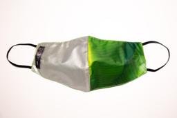 Máscara Verde /Prata Bananeira P