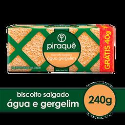 Piraquê Biscoito Água Gergelim Pacote