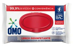 Omo Lenço Umedecido Desinfetante Limpeza Mata Bactérias