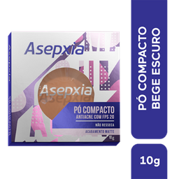 Pó Compacto Asepxia Matte Antiacne Fps 20 Cor Bege Escuro 10 G