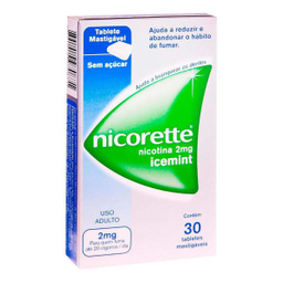 Nicorette 2 Mg 30 Gomas Mastigáveis