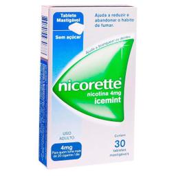 Nicorette Anti Tabagismo Ice Mint 4Mg 30 Tabletes