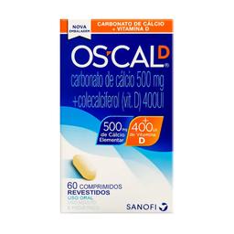 OsCal D Carbonato De Cálcio + Vitamina D (500mg + 400UI)