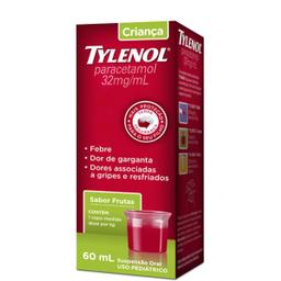 Tylenol 32 Mg Suspensão Oral Frasco Copo Medidor +
