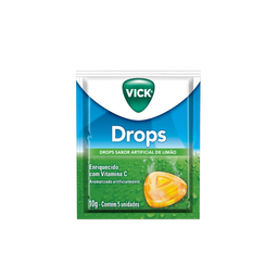 Vick Drops Sabor Limão 5 Pastilhas