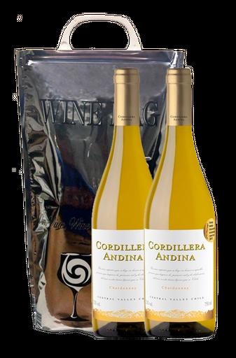 Combo 2 Vinhos Cordillera Andina Chardonnay 750 mL + Wine Bag