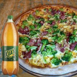 Pizza de Brócolis + Bebida