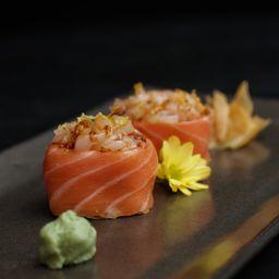 Sushi de Vieira com Salmão