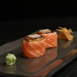 Sushi de Barriga Salmão com Foie Gras