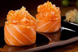 Sushi de Salmão Siciliano