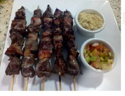 Espetinho Carne com Bacon