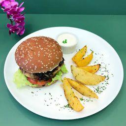 Combo Hambúrguer de Falafel