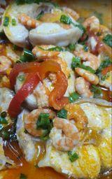 Muqueca(camarão e peixe)