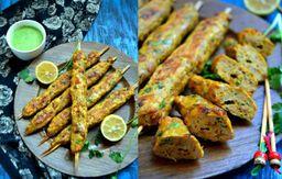 Chicken Seek Kabab Sem Molho