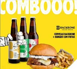 Escolha seu Burger + Backbone 330ml