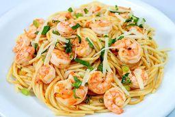 Espaguete Italiano de Camarão