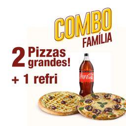 Combo Família: 2 Pizzas G + 1 Refri