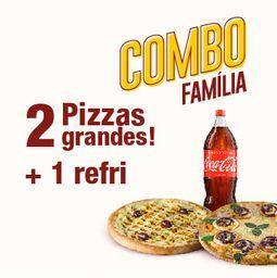 Combo Família 25% off: 2 Pizzas G + 1 Refri