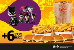 5 Cheeseburger + 2 Batata Canoa Mega + Shake 1 litro + 6 Toyart