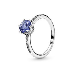 Anel Solitário Real Azul Pandora