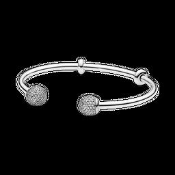 Bracelete Crie & Combine Pandora Evolution Ponteira Pavê Pandora