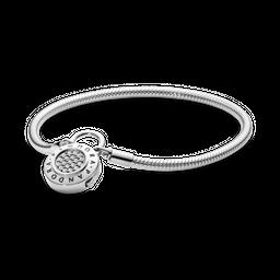 Bracelete Crie & Combine - Liso Fecho Pandora Cadeado Pandora