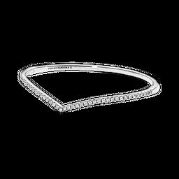 Bracelete Rígido Chevron Brilhante Pandora