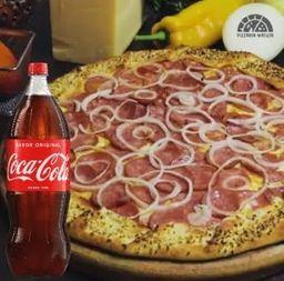 Combo Pizza e Coca-Cola 1L