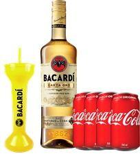 Bacardi Ouro + 4 Coca Cola + Copo