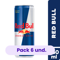 6 x Energético Red Bull Regular 250ml