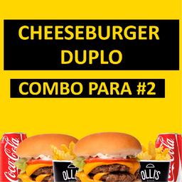 Combo Cheeseburger Duplo para #2