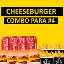 Combo Cheeseburger para #4