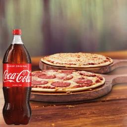Mussarela Grande + Calabresa Grande + Coca-Cola 2 litros