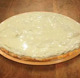 Pizza de chocolate branco -25 cm
