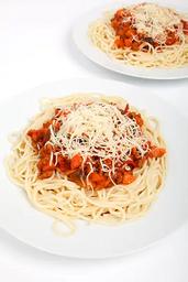 Porção de Espaguete à Bolonhesa