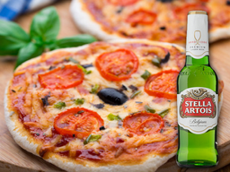 1 pizza brotinho + 1 cerveja long neck
