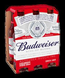 Pack Cerveja Budweiser 330 mL (x6)