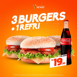 3 Baurú + Refri 1L