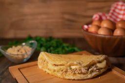 Omelete Frango Requeijão e Salada