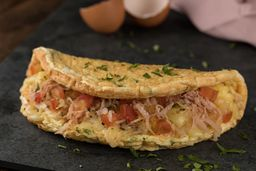 Omelete Napolitana e Salada