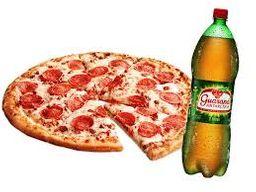 Combo de Pizza Meio a Meio e Refrigerante 1,5L