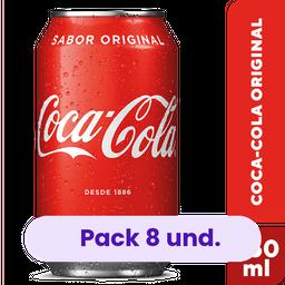 8 x Refrigerante Coca Cola Lata 350 mL