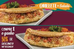 Omelete de Frango com Requeijão e Salada